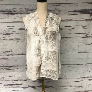Snake skin patterned blouse